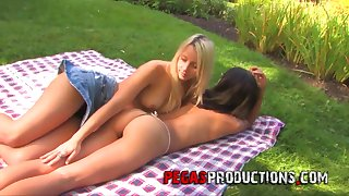 Enterprising lesbo called Dolly Princes enjoys zero but outdoor sex